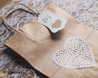 10 kraft paper wedding bags