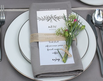 Gray Napkins 12-pack 20 x 20 inches, Grey Wedding Napkins | Wholesale Cloth Napkins, Wedding Table Decor