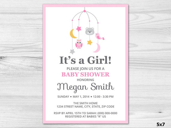 Its A Girl Baby Shower Invitations & Announcements
