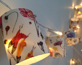 Liberty  Print Botanical Flower Fairy lights.