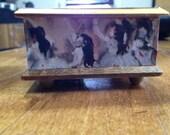 Pour Elise music box vintage Swiss decopauge Degas ballerina motif