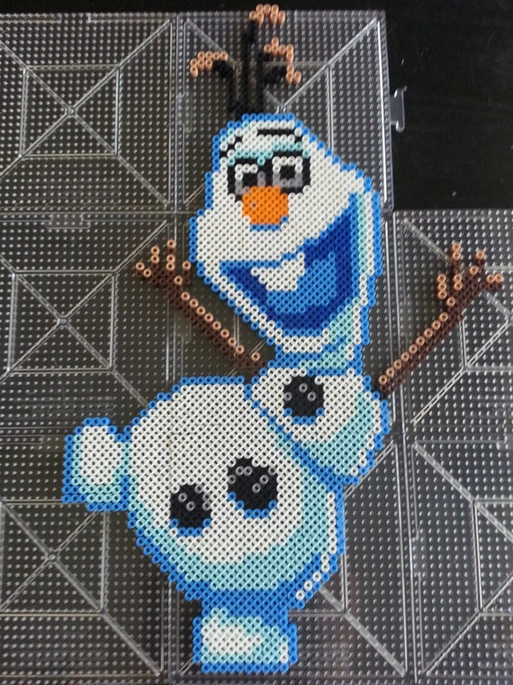 Items Similar To Disney S Frozen Olaf Perler Bead Sprite