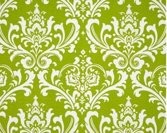 Valances.Chartreuse.Window Treatment.Chartreuse and white.Osborne.damask.Designers pattern.Choose  your sizes.cm