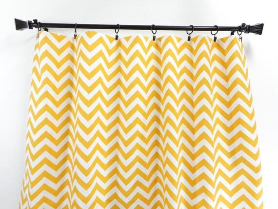 chevron jaune panneau rideau 2 panneaux rideaux jaune et. Black Bedroom Furniture Sets. Home Design Ideas