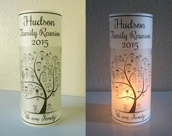12 Personalized Family Reunion Party Centerpiece Table Decoration Luminaries
