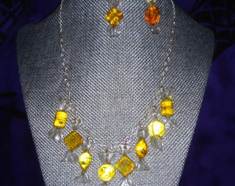 Candy Earrings and Necklace