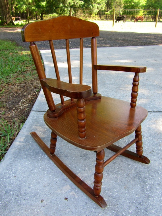 Vintage Wooden Child 39 S Rocking Chair
