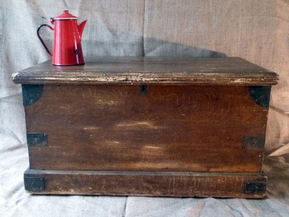 Coffee Table Trunk Large Wooden Chest Pine By Monsieurrenardsattic