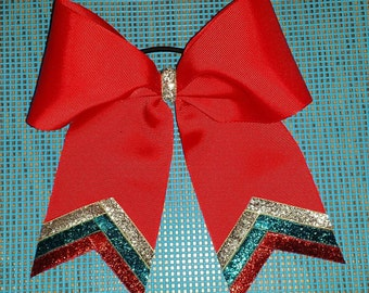 Red Triple Sparkle Bow