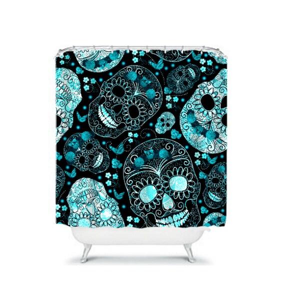 Aqua And Black Shower Curtain Home Design 2017