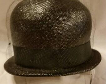 Ladies black church hat