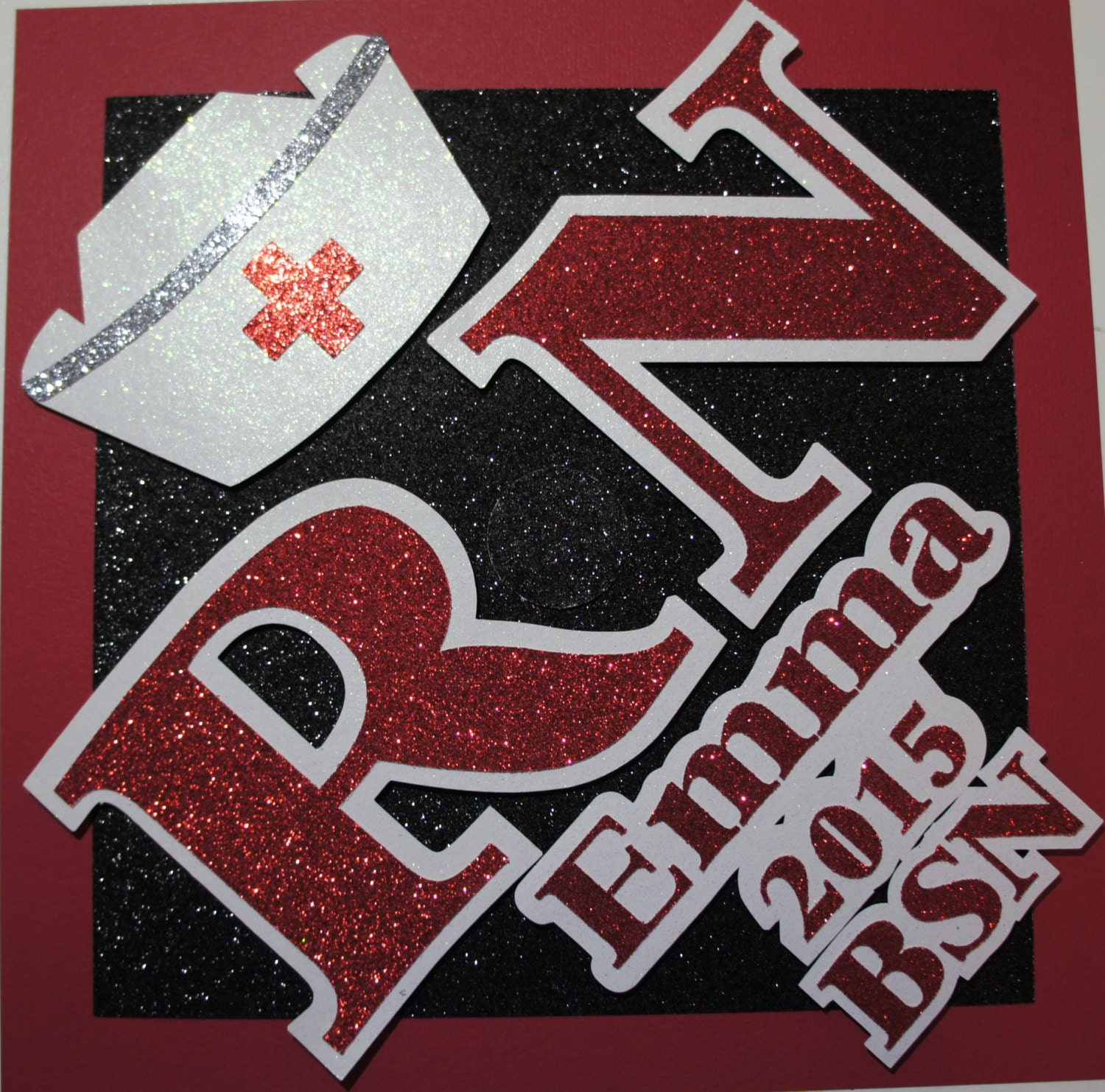 Custom Nurse Graduation Cap Topper Personalize the hat