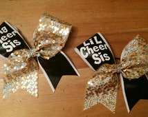 big cheer sis - little cheer  sis cheer bows
