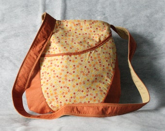 Tote bag - Orange and yellow crossbody bag - Shoulder bag