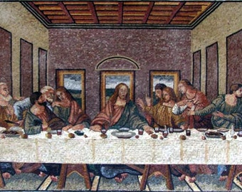 Leonardo da Vinci Last Supper Reproduction Mosaic. MR012