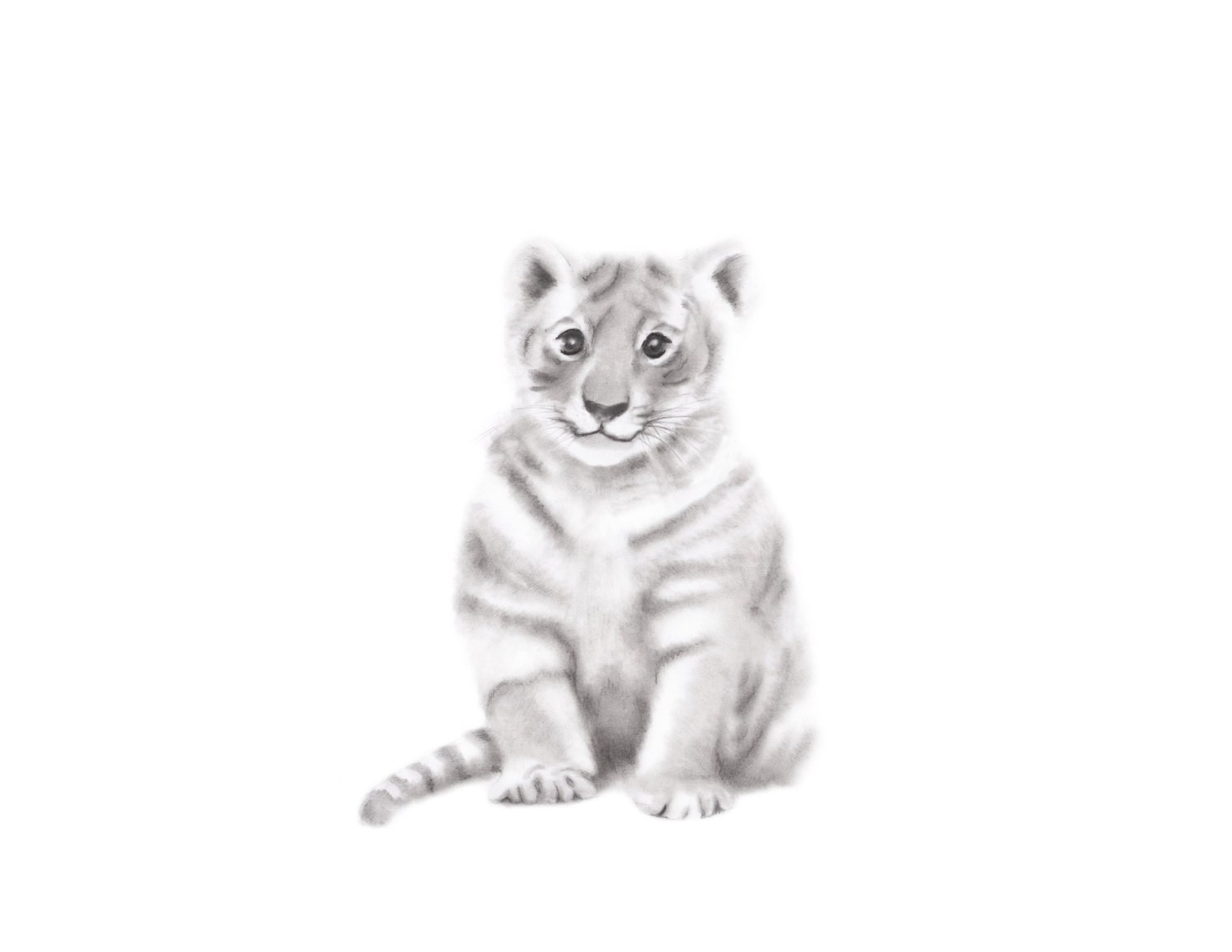 Tiger Art Print Safari Nursery Jungle Animal Nursery Art