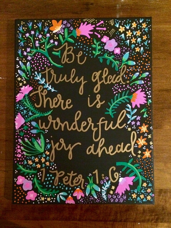 Painting Quote For House : Canvas Quote Painting - Home Decor - Bible Quote -Wall Art