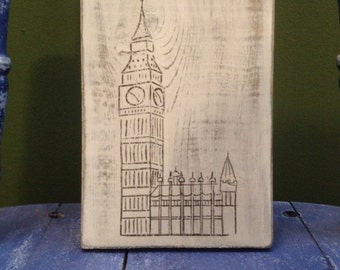 Big Ben Rustic Wood Sign