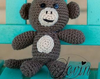 Crochet Stuffed Animal: Monkey