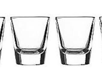Monogrammed Shot Glasses- Set of 6