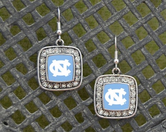 North Carolina Tar Heels Square Earrings