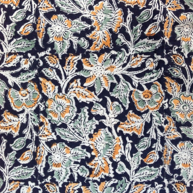 Indian block print kalamkari fabric fabric from india for Textile fabrics