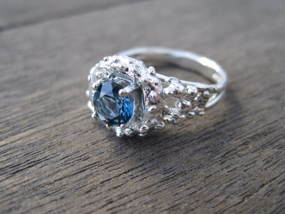 Coral Sea Inspired Engagement or Promise Ring by ...