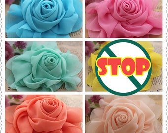 10pcs Chiffon flower DIY Kids Headbands supplies Hair Accessories