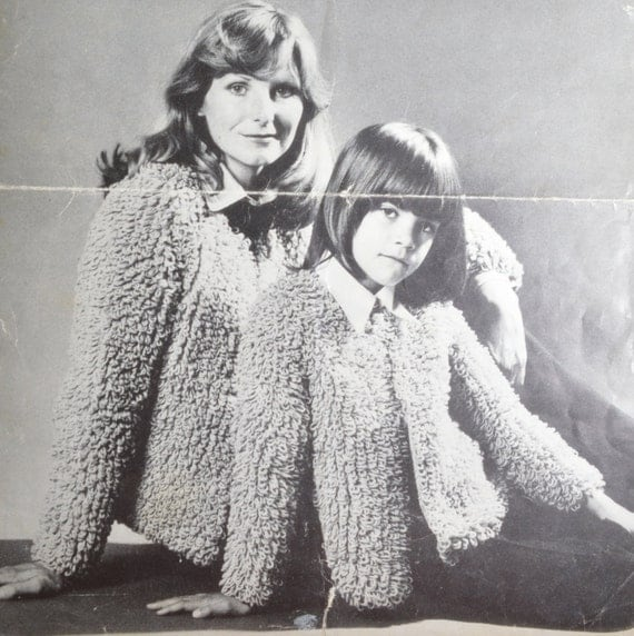 Knitting Patterns For Loopy Cardigan : PDF loopy jacket sizes loop vintage knitting pattern pdf
