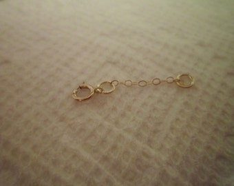 14kt Yellow Gold Chain Extender- 1 Inch- Fine Jewelry-Made To Order- New