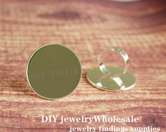silver 25mm Rings Setting ,silver Ring Setting,Ring Bases , Adjustable Rings , Pad Ring Blanks , Ring Bases