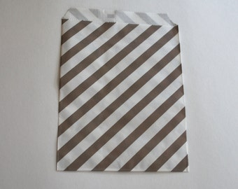 Grey Striped Favor Bags