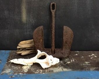 Rusty Cast Iron Anchor