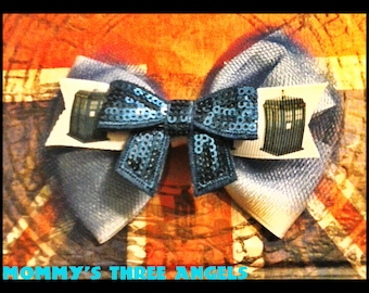 MADE TO ORDER Police Box Hair Bow