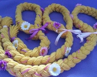 Disney Inspired Tangled Rapunzel Braid Adjustable Yarn Hair Wig Costume
