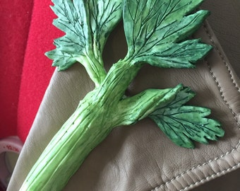 Decorative Vegetable- Fifth Doctor's Celery Brooch