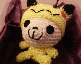 Kawaii amigurumi panda in pikachu costume pokemon geek