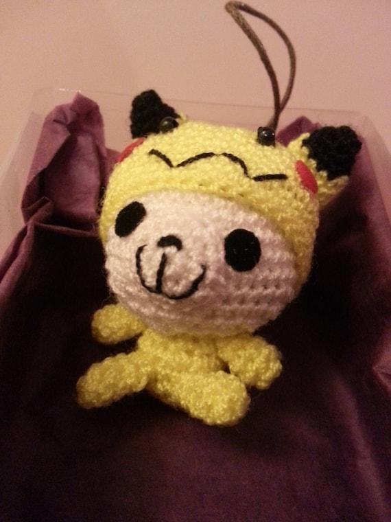 Panda Amigurumi Kawaii : Kawaii amigurumi panda in pikachu costume pokemon by ...