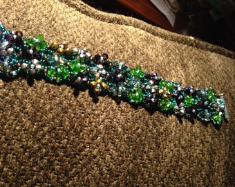 One of a kind! Colorful Wide Bracelet