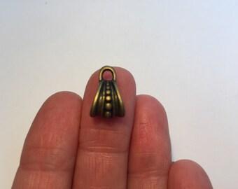 10 Bail Beads Antique Bronze 15 x 9.5mm - BD22