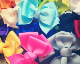 3 inch stacked pinwheel bows set of 20, solid color bows, pinwheel bows, 4 inch bows, solid bow set