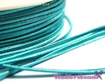 1x 3m Czech Soutache Braid 3 mm Turquoise