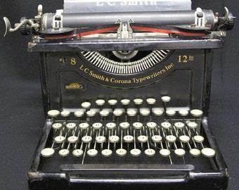 Antique LC SMITH CORONA Model 8 12 No Case