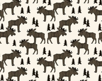 fitted crib sheet in moose forest, organic crib sheet, cotton crib sheet, baby sheet, toddler sheet baby bedding organic sheet
