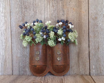 Double Hanging Vase with Blueberries