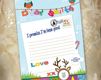 Write a Letter to Santa Template digital download. Print from the comfort of your own home.