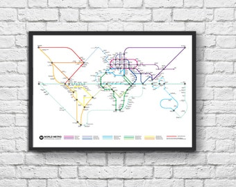World Metro Map Poster (NEW)