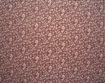 Calico Rust Fabric - VIP Cranston Quilters Cotton - Price per Yard