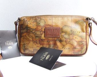 ALVIERO MARTINI 1 CLASSE/ bag made in Italy / Alviero Martini 1970s/ Alviero Martini certificate of quality/brown bag/ bag made in italy/