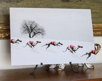 Whippet Winter Run Art (W)